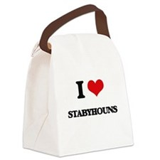 I love Stabyhouns Canvas Lunch Bag