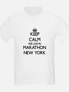 Keep calm we live in Marathon New York T-Shirt