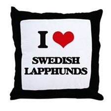 I love Swedish Lapphunds Throw Pillow