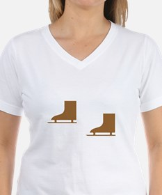 Brown Ice Skates Shirt