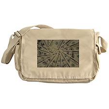 swirl hundred dollar bills Messenger Bag
