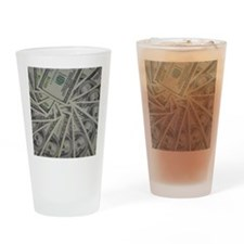 swirl hundred dollar bills Drinking Glass