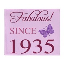 Fabulous Since 1935 Throw Blanket