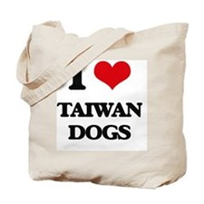 I love Taiwan Dogs Tote Bag
