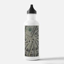swirl hundred dollar b Water Bottle