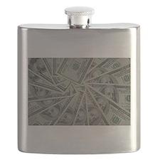 swirl hundred dollar bills Flask