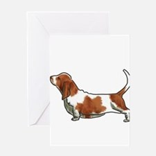 bassett hound Greeting Cards