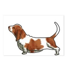 bassett hound Postcards (Package of 8)