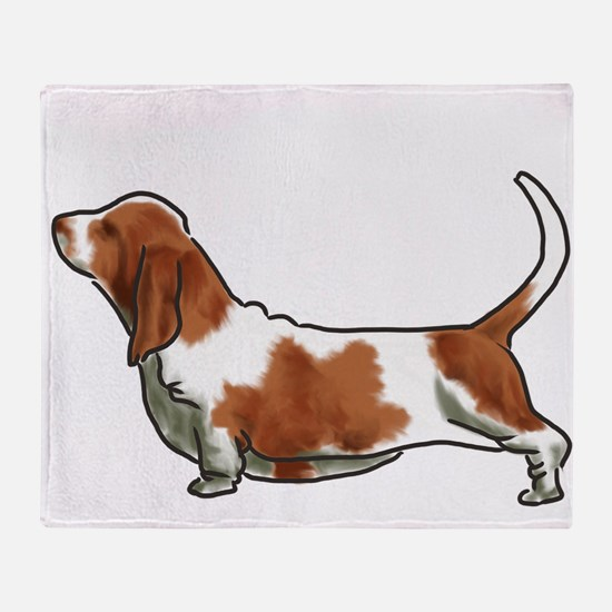bassett hound Throw Blanket