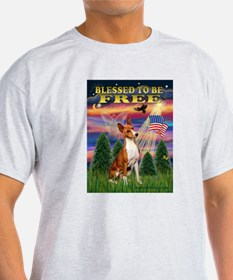 Blessed to be Free-Basenji T-Shirt