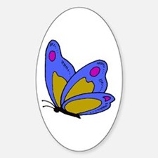Butterfly Baby Oval Decal