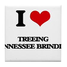 I love Treeing Tennessee Brindles Tile Coaster