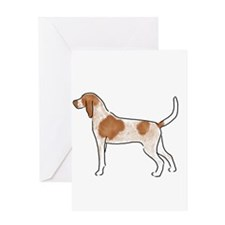 american english coonhound Greeting Cards