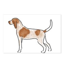 american english coonhound Postcards (Package of 8