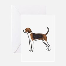 american foxhound Greeting Cards