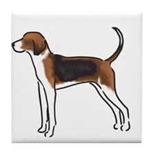 american foxhound Tile Coaster