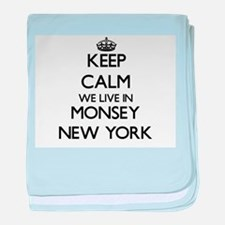 Keep calm we live in Monsey New York baby blanket