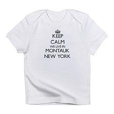 Keep calm we live in Montauk New Yo Infant T-Shirt