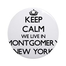 Keep calm we live in Montgomery N Ornament (Round)