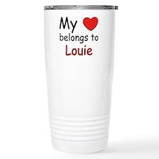 Cute I heart my boyfriend Travel Mug