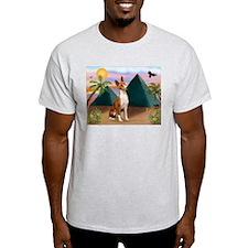 Basenji at the Pyramids T-Shirt