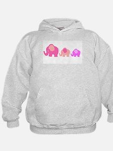 Pink Elephants Hoodie