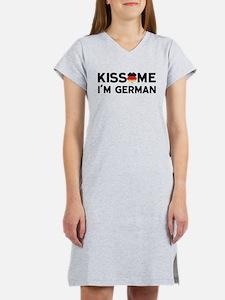Kiss Me I'm German Women's Nightshirt