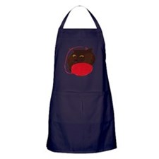 Cute Havana brown Apron (dark)
