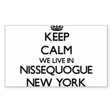 Keep calm we live in Nissequogue New York Decal
