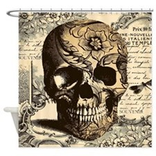 Cute Steampunk skull Shower Curtain