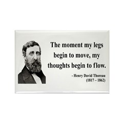 Henry David Thoreau 10 Rectangle Magnet (10 pack)