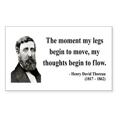 Henry David Thoreau 10 Rectangle Decal
