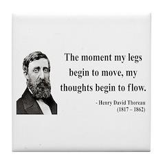 Henry David Thoreau 10 Tile Coaster