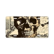 Steampunk skull Aluminum License Plate