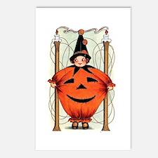 Jack-O-Lantern Kid Postcards (Package of 8)