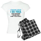 Funny yoga wine T-Shirt / Pajams Pants