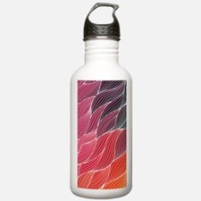 Multi Colored Waves Ab Water Bottle