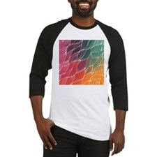 Multi Colored Waves Abstract Desig Baseball Jersey