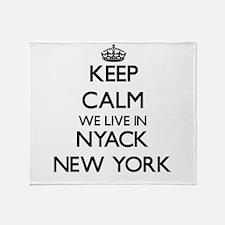Keep calm we live in Nyack New York Throw Blanket
