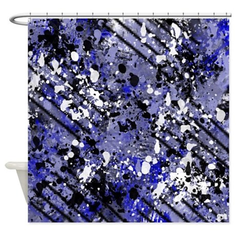 Blue Black And White Abstract Shower Curtain By Listing Store 113075623