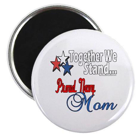"Proud Navy Mom 2.25"" Magnet (100 pack)"