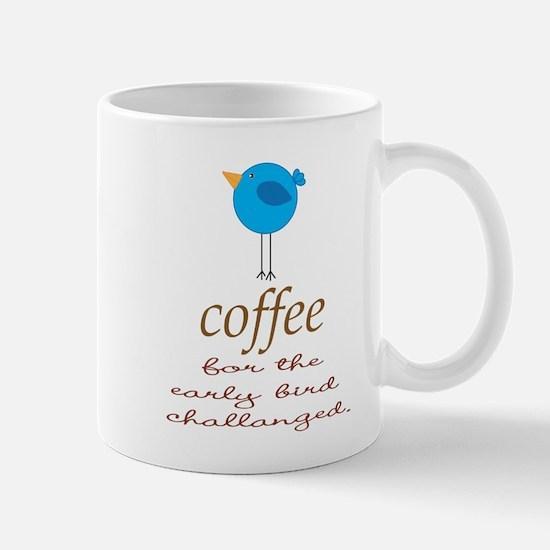 Blue Early Bird Coffee Funny Mugs