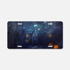 haunted house  Aluminum License Plate
