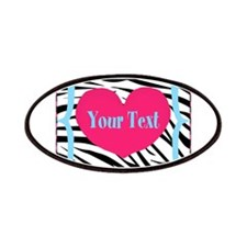 Personalizable Pink Zebra Patches