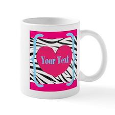Personalizable Pink Zebra Mugs
