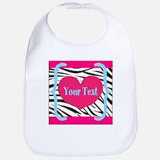 Personalizable Pink Zebra Bib