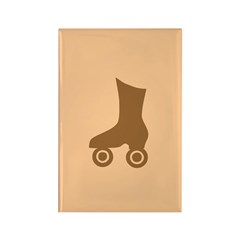 Brown Roller Skate Rectangle Magnet (100 pack)