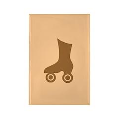 Brown Roller Skate Rectangle Magnet