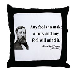 Henry David Thoreau 11 Throw Pillow