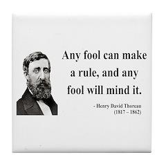 Henry David Thoreau 11 Tile Coaster